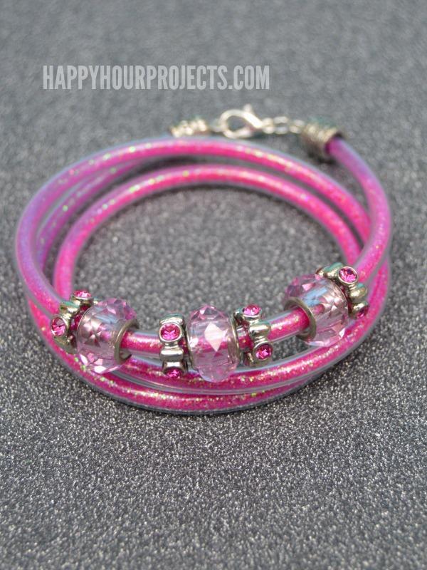 DIY Beaded Glitter Wrap Bracelet - Happy Hour Projects