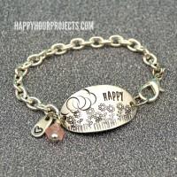 Stamped Floral Scene Bracelet
