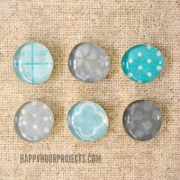 Glass Pebble Scrap Magnets