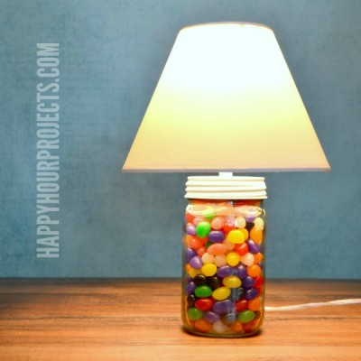 Easter Decor | 2-Minute Mason Jar Jellybean Lamp