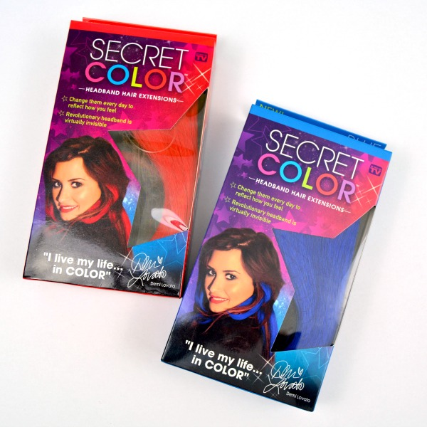 Secret Color Temporary Color Hair Extensions Review and Giveaway at www.happyhourprojects.com