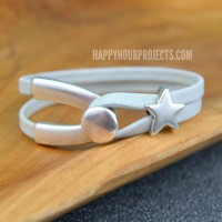 Wishbone Leather Bracelet at www.happyhourprojects.com