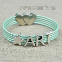 ART Leather Cord Bracelet at www.happyhourprojects.com | Make it in 5 Minutes