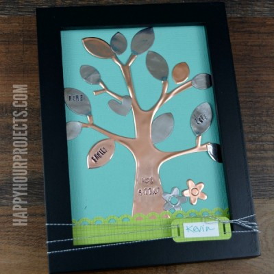 Stamped and Framed Copper Tree Art at www.happyhourprojects.com | Better Than a Greeting Card