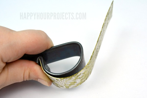 Etched Peacock Cuff Bracelet at www.happyhourprojects.com | a 10-Minute Jewelry Project