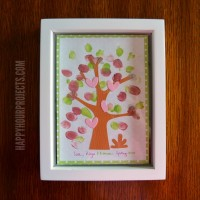 Easy Kids' Fingerprint Tree