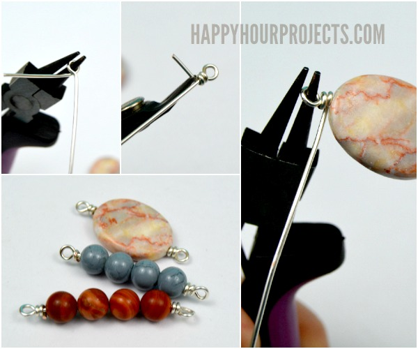 Side Clasp Leather and Stone Bead Bracelets at www.happyhourprojects.com | Make it in 10 Minutes