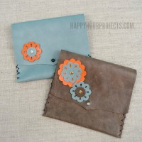 Floral Themed Beginner's Leather Wallet Tutorial and Giveaway