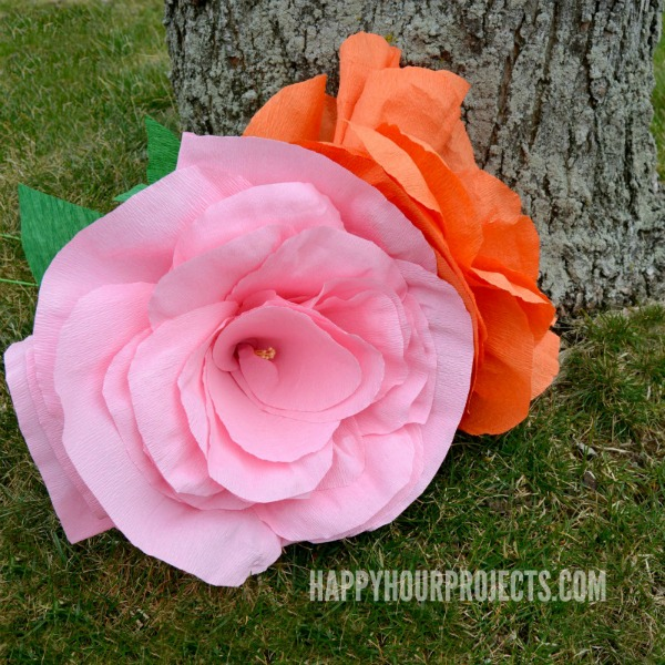How To Make Giant Crepe Paper Flowers Happy Hour Projects