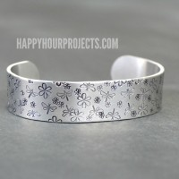 Dragonfly-Themed Stamped Cuff Bracelet | Video Tutorial