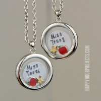 Personalized Teacher Appreciation Lockets | A Great End of the School Year Gift at www.happyhourprojects.com
