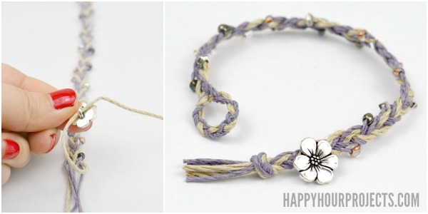 DIY Beaded ButtonClasp Hemp Bracelets Happy Hour Projects