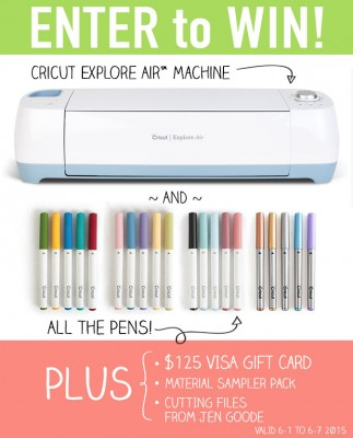 Cricut Explore Air™  Prize Bundle Giveaway