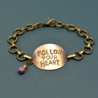 Follow Your Heart Stamped Bracelet