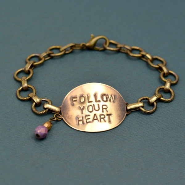 Follow Your Heart Beginner's Stamped Bracelet