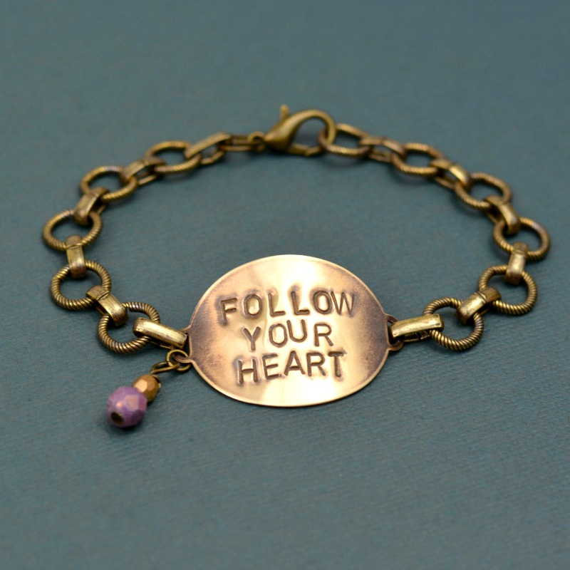 Follow Your Heart Beginner's Stamped Bracelet