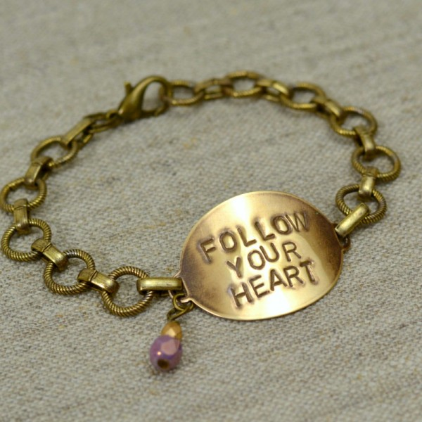 Follow Your Heart Stamped Bracelet 2