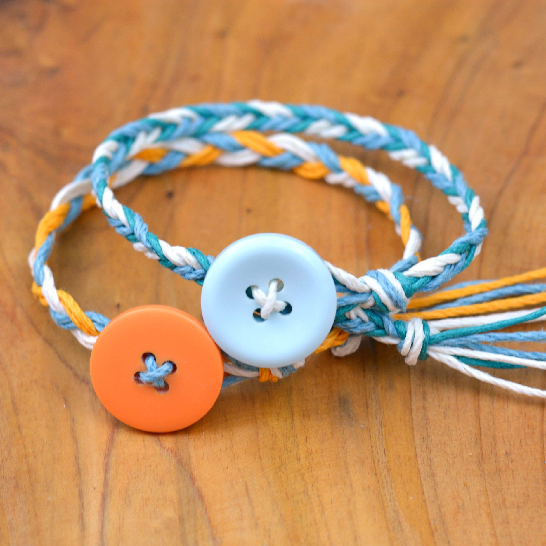 Hemp button bracelets 4
