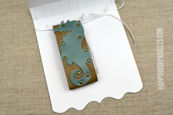 Leather Seahorse Themed Cuff at www.happyhourprojects.com