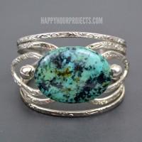 DIY Stone Cuff Bracelets