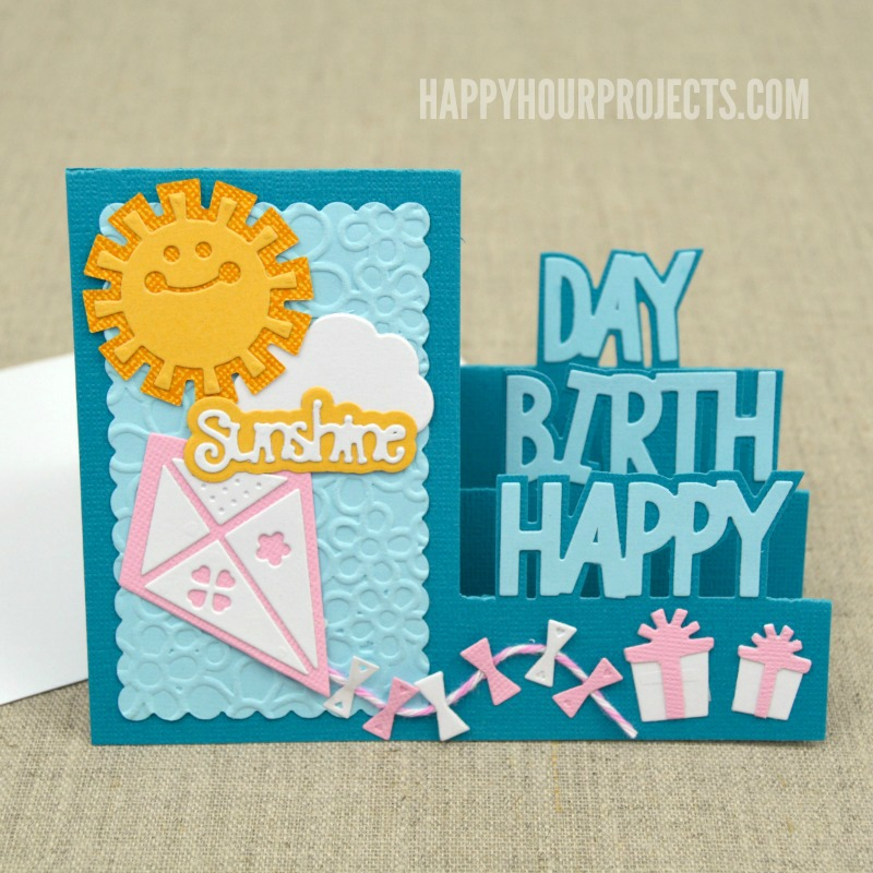 CardMaker & Sizzix Blog Hop! Hello, Sunshine Birthday Card at www.happyhourprojects.com