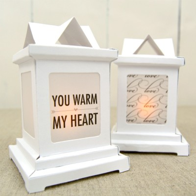 DIY Love-Themed Paper Wedding Lanterns