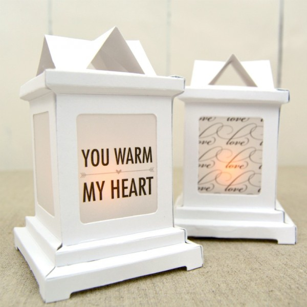 DIY Paper Wedding Lanterns at www.happyhourprojects.com
