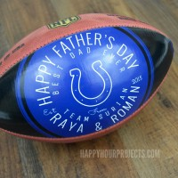 Fathers Day Gift Idea for the Sports Fan: Customized Wilson NCAA and NFL Footballs at www.happyhourprojects.com #WilsonCustomFootball