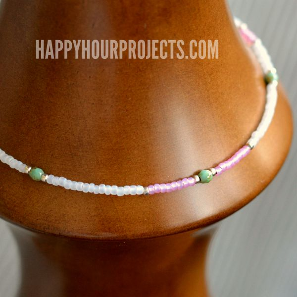 Easy Beaded Ankle Bracelet Great Beginner S Jewelry Project At Www Hyhourprojects