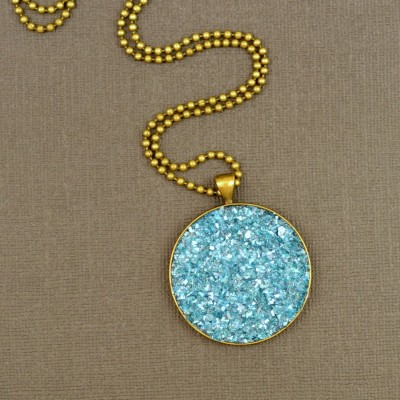 Faux Druzy Necklace