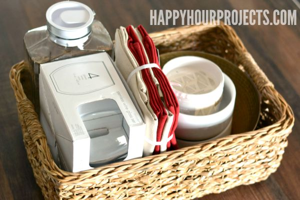 Housewarming Gifts for Their First Apartment at www.happyhourprojects.com | Give the gift of entertaining for $100 or less! #TargetStyle