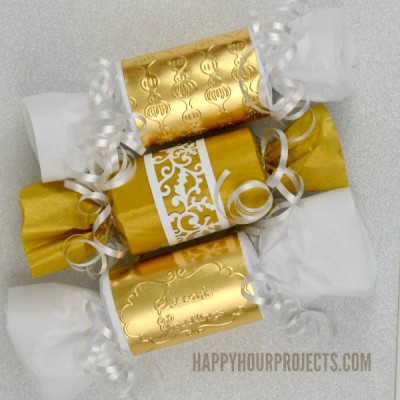 Christmas in July with Sizzix | Simple and Elegant Golden Gift Wrapping
