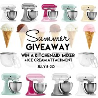 KitchenAid Mixer with Ice Cream Attachment Giveaway at www.happyhourprojects.com
