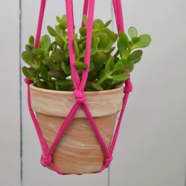 Hanging Planter Project from DIY T-SHirt Crafts by Adrianne Surian