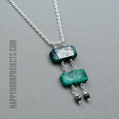 Turquoise Bead Ladder Necklace