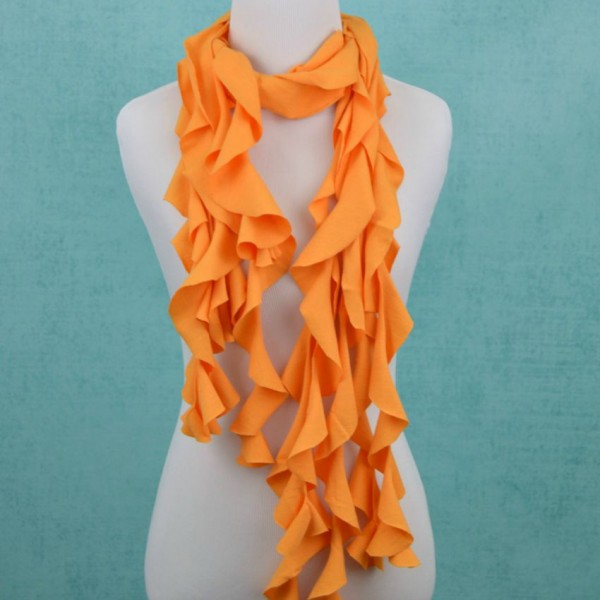 Ruffle Scarf Project from DIY T-SHirt Crafts by Adrianne Surian