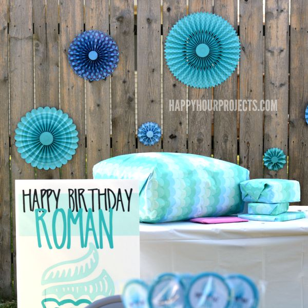 A Blue Birthday Party at www.happyhourprojects.com | Keeping it simple and enjoying my son's 2nd birthday party!
