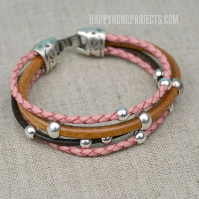 Easy Beaded DIY Leather Bracelet