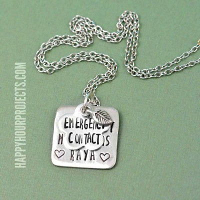 How to Make a Hand Stamped Necklace | The Basics
