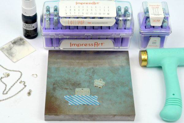 How to Make a Hand Stamped Necklace   The Basics at www.happyhourprojects.com