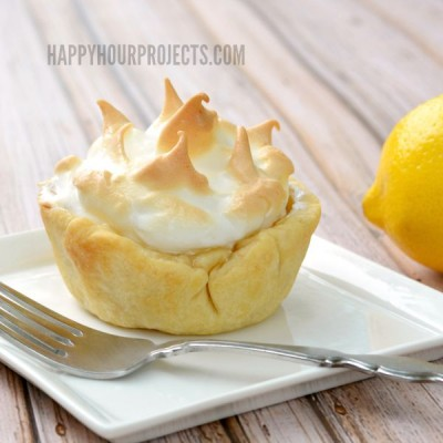 Lemon Meringue Mini Pies for National Lemon Meringue Pie Day at www.happyhourprojects.com | Enter the $100 Kitchen Gear Giveaway sponsored by Ginny's now through August 23, 2015