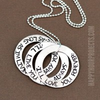 I'll Love You Forever Hand Stamped Washer Necklace