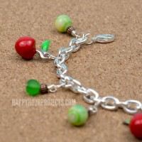 Apple Themed Charm Bracelet