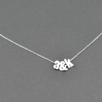 DIY Initial Necklace at www.happyhourprojects.com