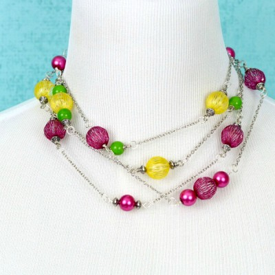 Bright DIY Beaded Necklace