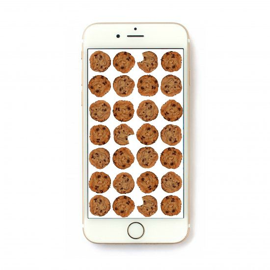 Free Chocolate Chip Cookie iPhone Wallpaper at www.happyhourprojects.com