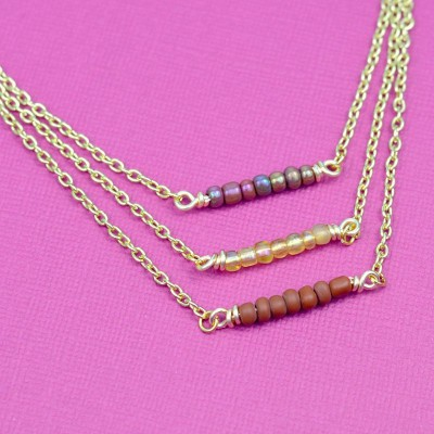 DIY Delicate Layering Beaded Necklaces