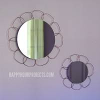 Easy DIY Flower Mirror Set