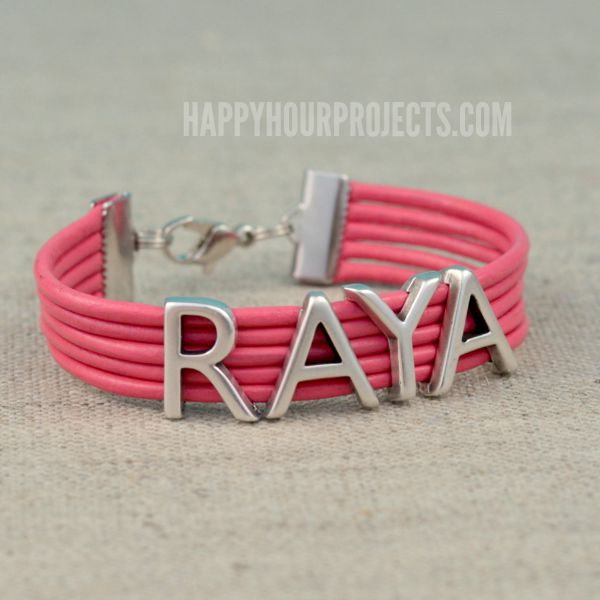 put your name on it easy diy leather bracelet happy hour projects