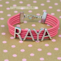 Put Your Name On It: Easy DIY Leather Bracelet